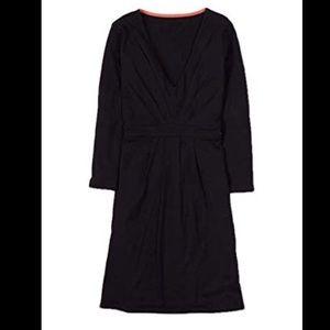 Boden Black pretty gather tunic dress 14 long